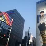 巨大な羽生さんポスター@銀座ソニービル