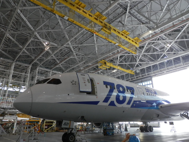 ANAの機体工場見学!